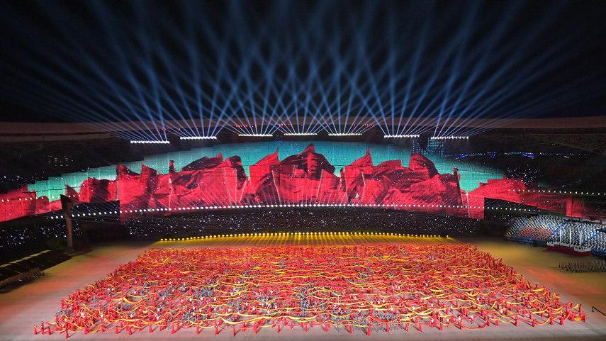 第十四屆全運會開幕式在西安舉行